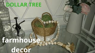 Diy farmhouse decor/ diy farmhouse basket/ diy farmhouse beads / diy moss balls