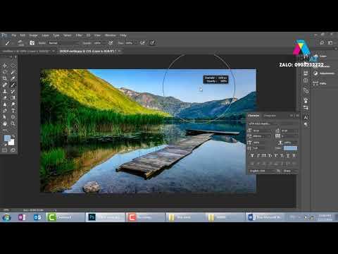 Cách chỉnh ảnh thiên nhiên chụp phong cảnh tươi sáng trong học photoshop online Design AZ