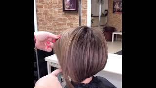 Окрашивание волос короткая женская стрижка в Нижнем Новгороде