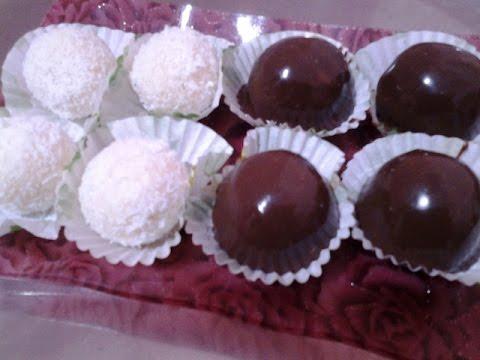 Chocolate Coated Coconut Fudge