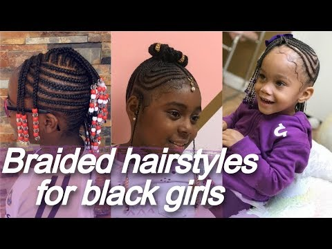40 braided 🌷 hairstyles for black girls - african american little girl braids