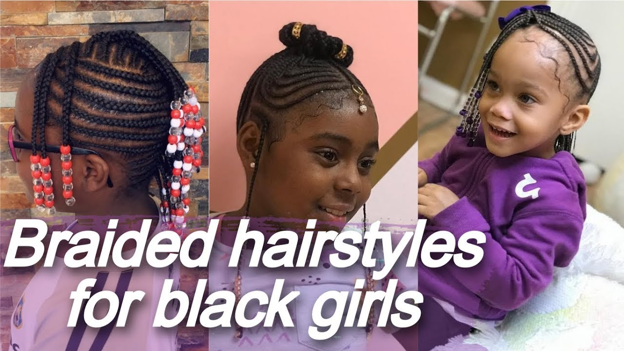 40 Braided Hairstyles For Black Girls African American Little Girl Braids Youtube