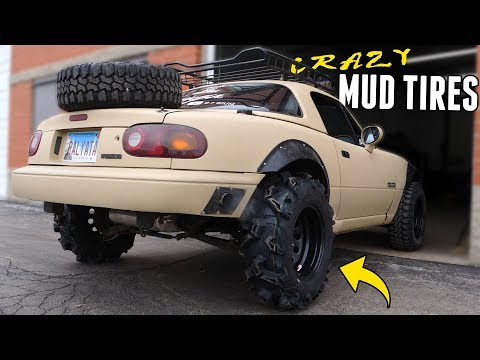 The Lifted Miata Gets the CRAZIEST MUD TIRES!!