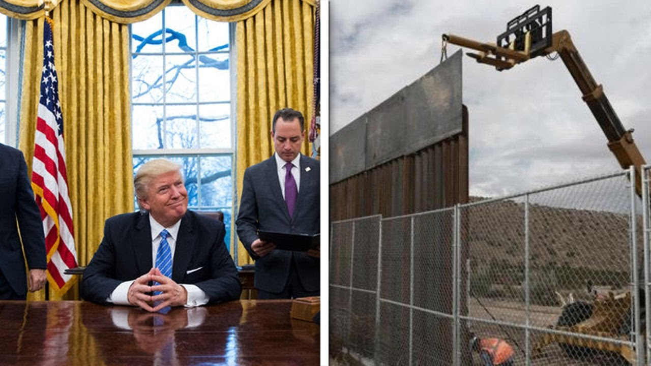 Trumps Started Building His Wall