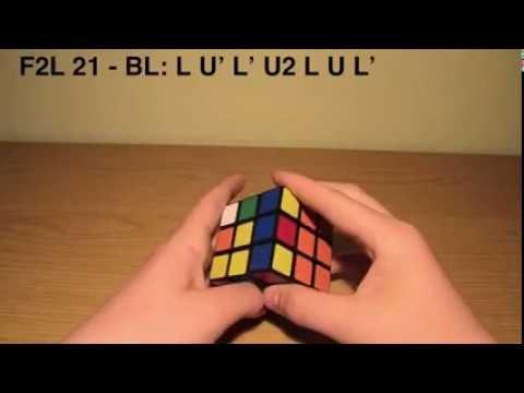 Hướng dẫn xoay rubik 3x3 tầng 1+2 (Công thức F2L, F2L 4 hướng)