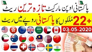 Pakistan open market exchange rate,USD to PKR,dollar buying selling price,currency rates,3 May 2020,