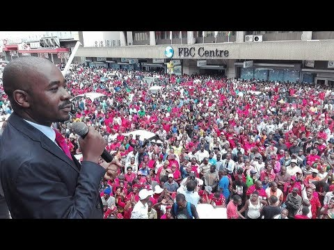 Nelson Chamisa Addresses Mourners Outside Harvest House - MDC Will Continue Tsvangirai Legacy