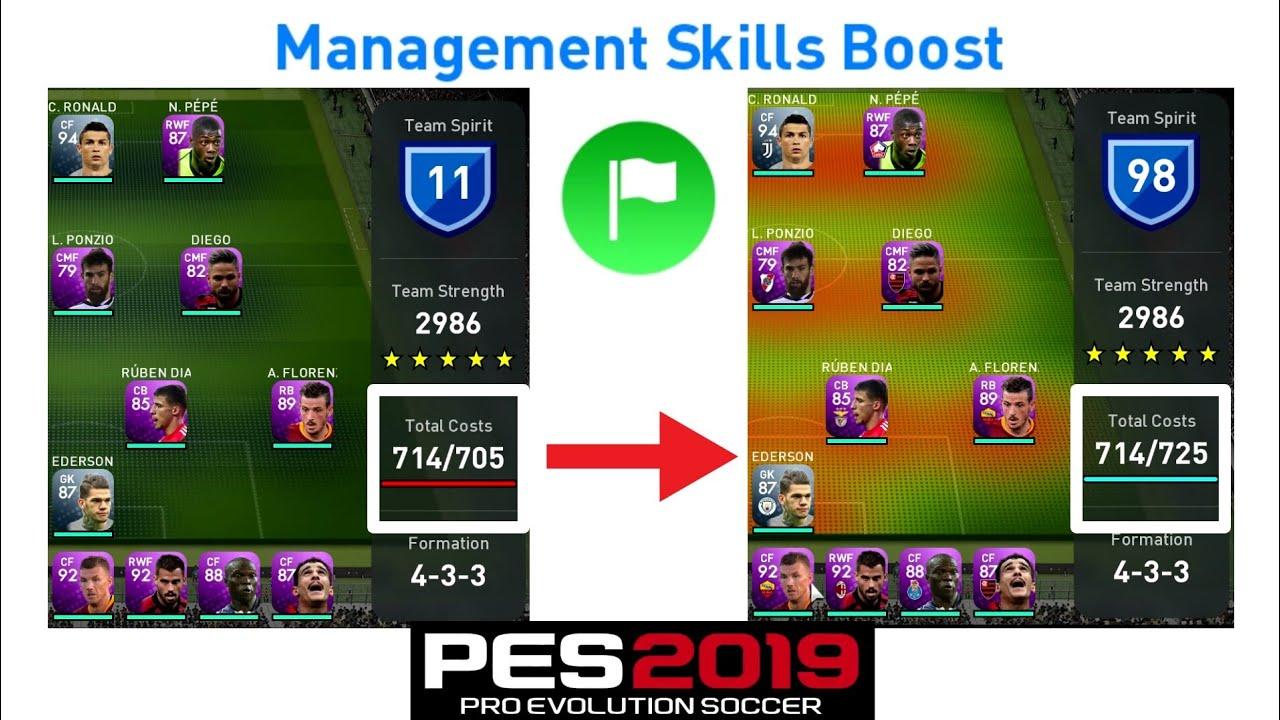 Management Skills Boost TRAINER - PES 19 (MOBILE/PC) | TUTORIAL