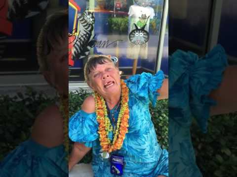 Hawaii Homeless Lady interview on streets of Waikiki