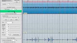 Samplitude - Audio to Midi Transient detection