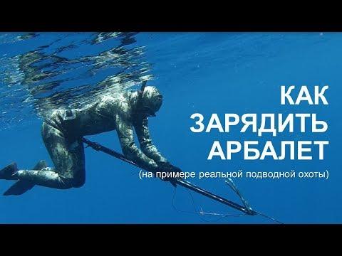 Как зарядить подводное ружье арбалет