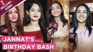 Jannat Zubair Rahmani's Star Studded Birthday Bash | Anushka, Ashnoor, Aashika, Siddharth & More thumbnail