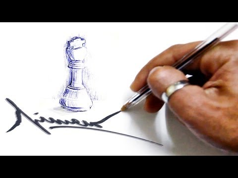 how to draw a king chess piece
