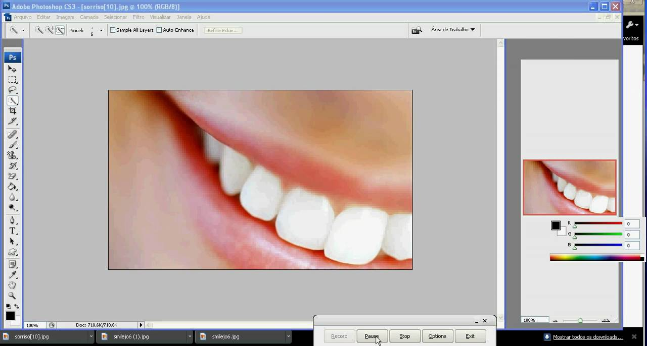 Adobe Photoshop Cs3 Clareamento Dos Dentes Hd Youtube