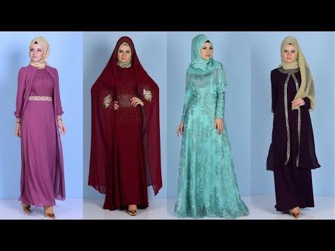 42e856477b769 Sefamerve Yeni Sezon Tesettür Abiye Elbise Modelleri 1/2
