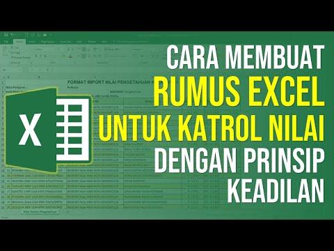 Cara Membuat Rumus Excel yang Benar untuk Katrol Nilai