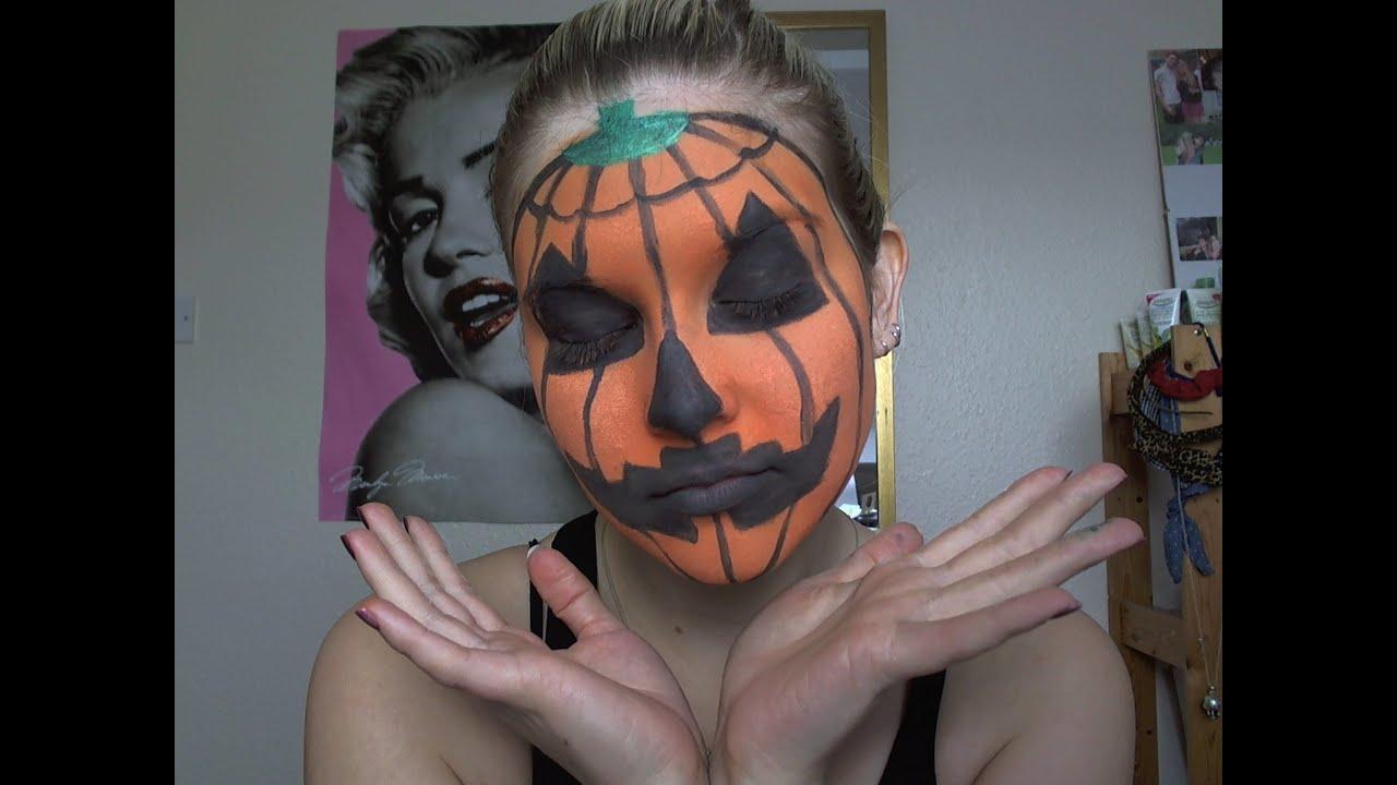 Halloween - Pumpkin Make Up Tutorial - YouTube