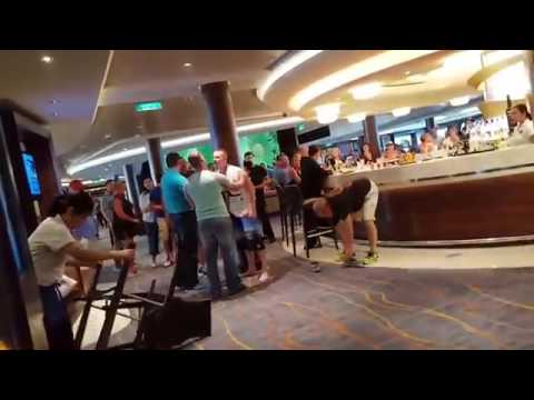 Cruise Ship Bar Fight Between Old Guy and US Marine