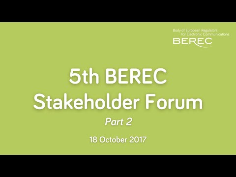 5th BEREC Stakeholder Forum - New models of investments
