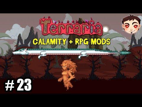 ¡ELEMENTAL DE ARENA Y WYVERNS! - Terraria [Calamity + RPG Mods] EP. 23