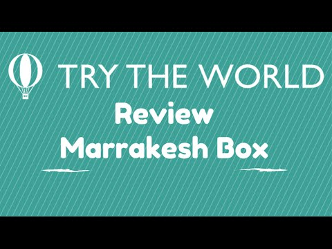Try The World Subscription Unboxing - Marrakesh