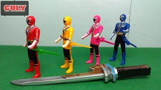 Bộ tứ Siêu nhân thần kiếm | Power Rangers Samurai Sentai Shinkenger toy for childrens