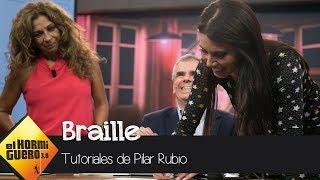 ¿Ha sido Pilar Rubio capaz de aprender Braille? - El Hormiguero 3.0