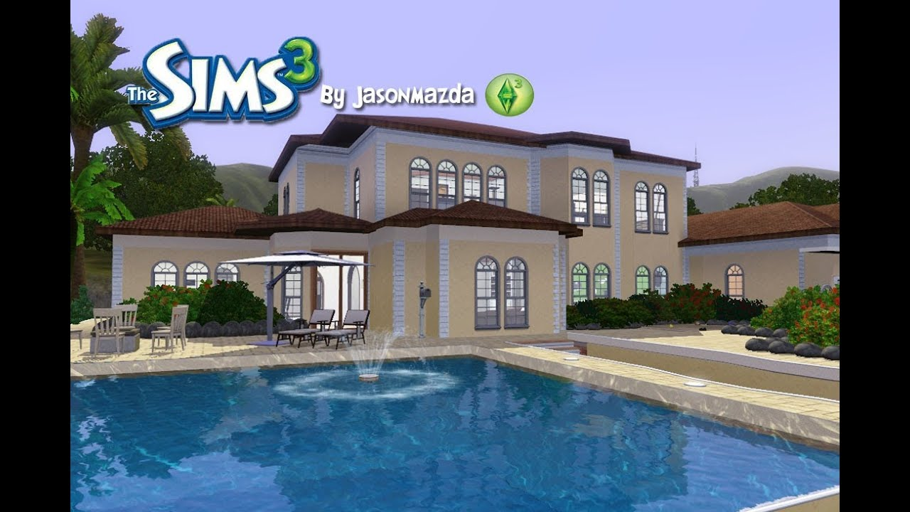 The sims 3 house designs mediterranean mansion youtube for Pool design sims 3
