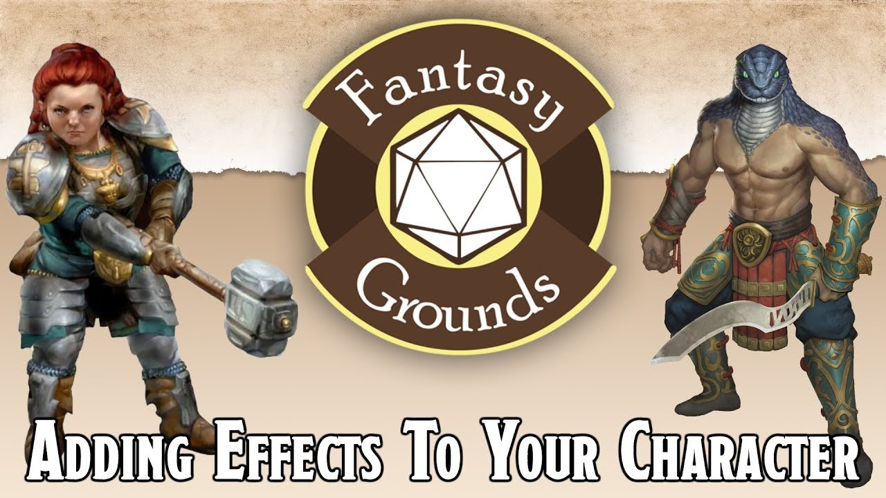 Fantasy Grounds Tutorials -- How To Add An Effect To Your D&D 5e Character  Sheet Part I