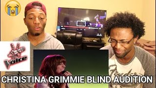 Christina grimmie sings 'wrecking ball' the voice blind auditions (reaction)