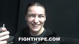 KATIE TAYLOR REACTS TO CONOR MCGREGOR ATTENDING HER FIGHT; REVEALS CONVO WITH HIM BEFORE & AFTER