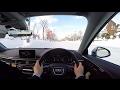 ?Test Drive?2017 New Audi A4 2.0 TFSI quattro - POV City Drive