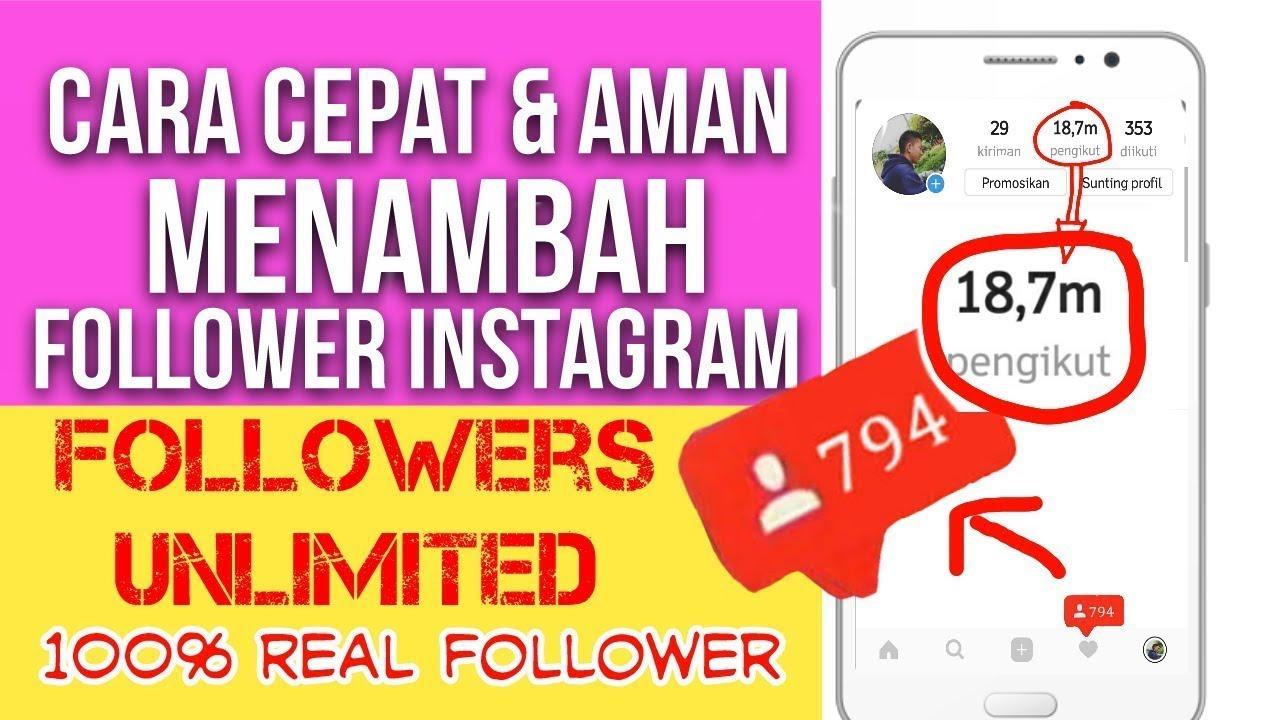 20 Cara Menambah Followers Instagram Cepat Aman Mudah
