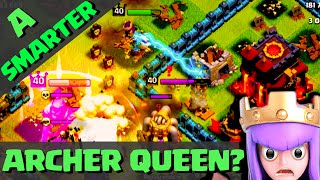 Clash of Clans - UPDATED Archer Queen? Smarter...or NOT? ♦ CoC ♦
