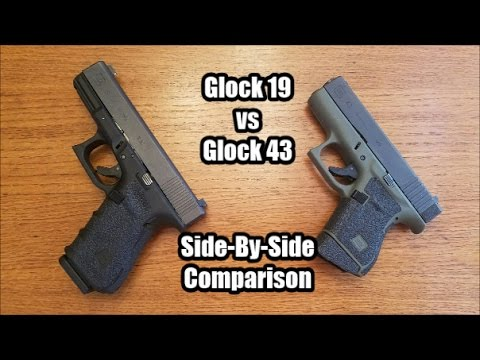 Glock 43 vs Glock 19: Side-by-Side Comparison