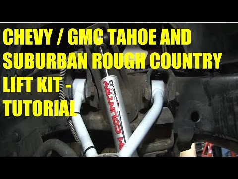 Sway Bar Disconnect >> Rough Country Lift Kit for 1988-1996, 98 Chevy / GMC Tahoe ...
