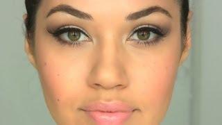 Peachy Nude Makeup Tutorial   Eman