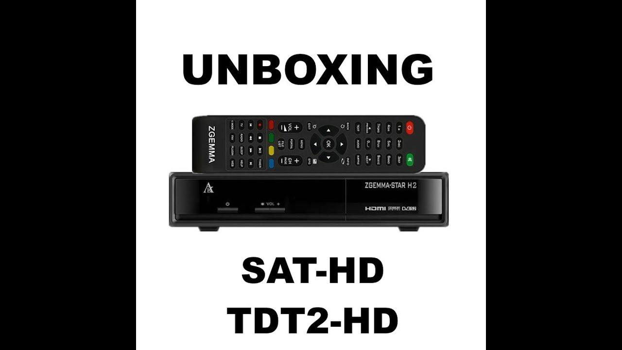 Novedad [Unboxing] Zgemma Star H2 // SAT-HD TDT2-HD \\ CLON