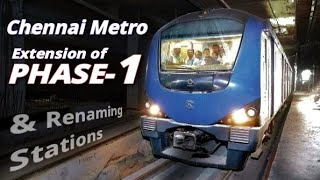 Chennai Metro Phase-1 Extension, Renaming Stations and More || MetroRail Blog