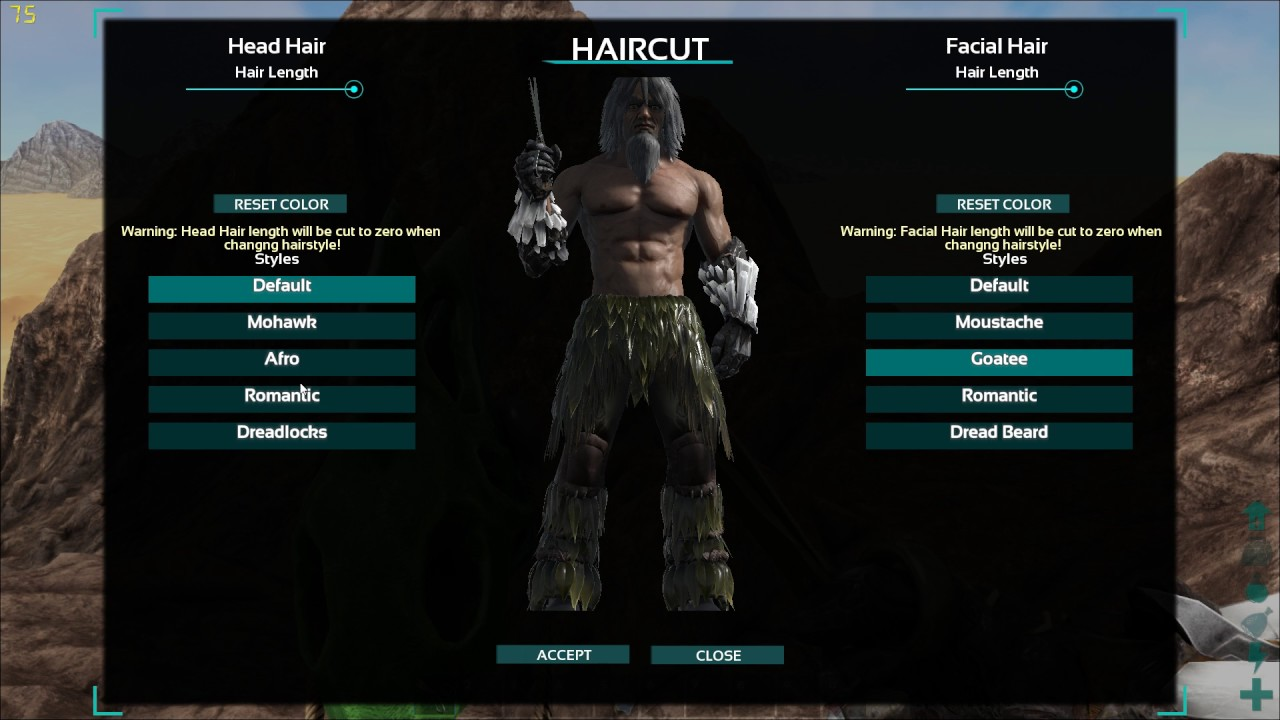 Ark Survival Evolved All Hairstyles And Beards Youtube