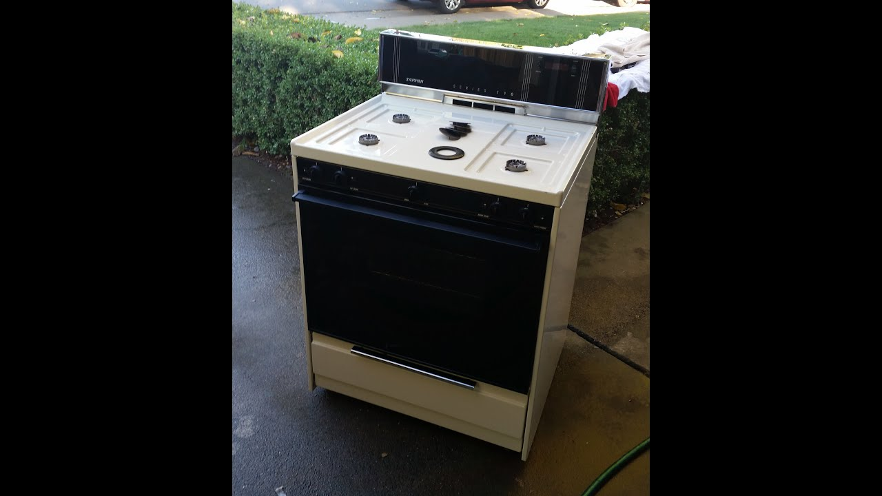 Tappan Free Standing Gas Stove Oven Youtube