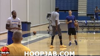 STEVE NASH TEACHING KEVIN DURANT DIFFERENT POST MOVE TECHNIQUES. HoopJab NBA
