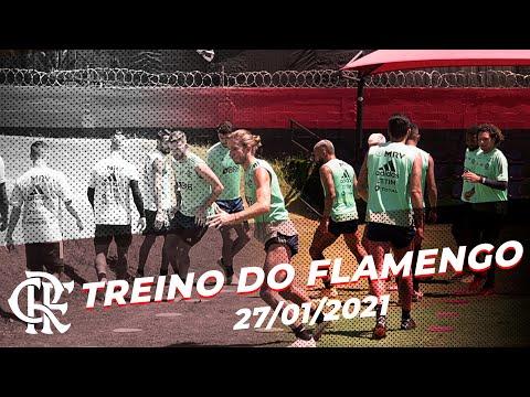 TREINO FLAMENGO – Elenco viaja para confronto com o Grêmio