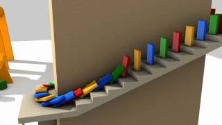 Animation - Bridge, Domino, Collision