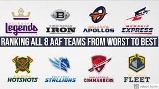 RANKING ALL 8 AAF Teams From WORST to BEST