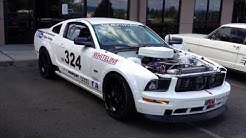 Sound of 358ci Nascar powered Mustang