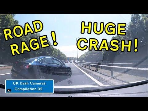 UK Dash Cameras - Compilation 32 - 2018 Bad Drivers, Crashes + Close Calls