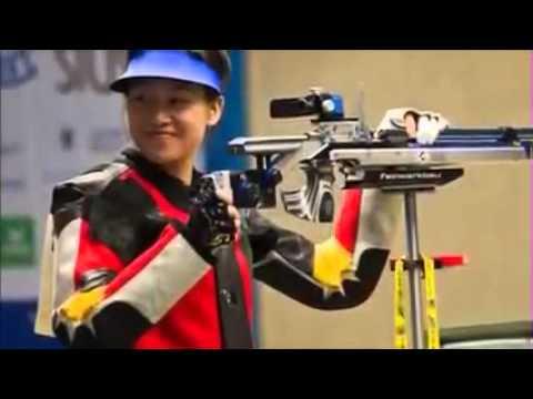 中国赢得女子10米气步枪金牌