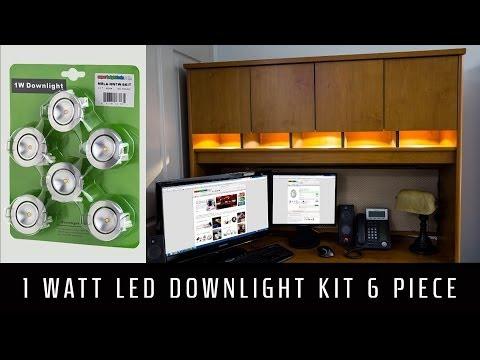 innovative design af87b 74cf4 LED Downlight Kit 6 Piece 1 Watt - YouTube