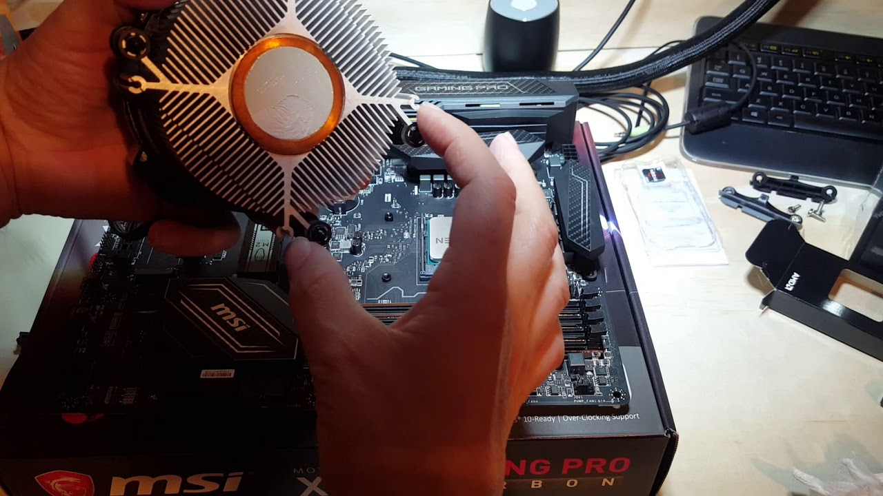 How to Install a Ryzen 5 1600 CPU and Wraith Cooler